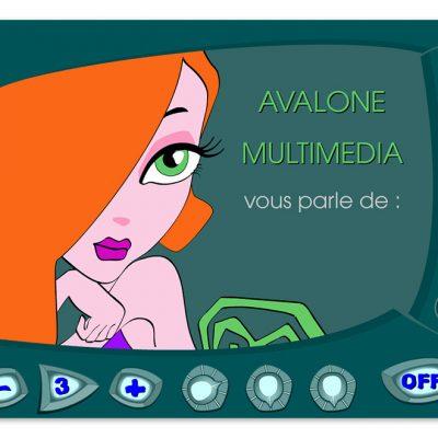 Avalone communication - Charte graphique et intégration Flash - www.godarisa.com/avalone/