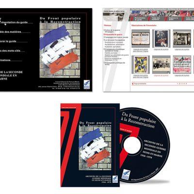 """DVD """"archives de la 2eme guerre mondiale en Seine-et-Marne"""" - Charte graphique"""