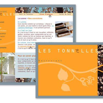 Restaurant Les Tonnelles - charte graphique et intégration